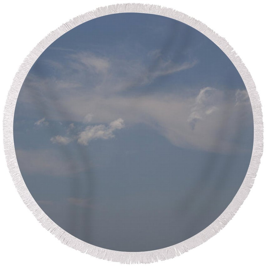 Clouds From Heaven - Round Beach Towel