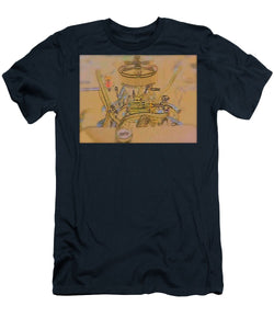 Drawing Of Old Time Engine - Men's T-Shirt (Athletic Fit)