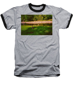 Duck Family Getting Back From Pond - Baseball T-Shirt