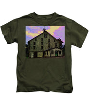 Dwight D. Eisenhower Barn In Gettysburg In Draw Form - Kids T-Shirt