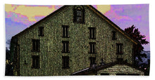 Dwight D. Eisenhower Barn In Gettysburg In Draw Form - Beach Towel