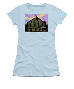 Dwight D. Eisenhower Barn In Gettysburg In Draw Form - Women's T-Shirt (Athletic Fit)