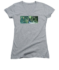 Eel Waiting To Snatch Something For Lunch - Women's V-Neck (Athletic Fit)