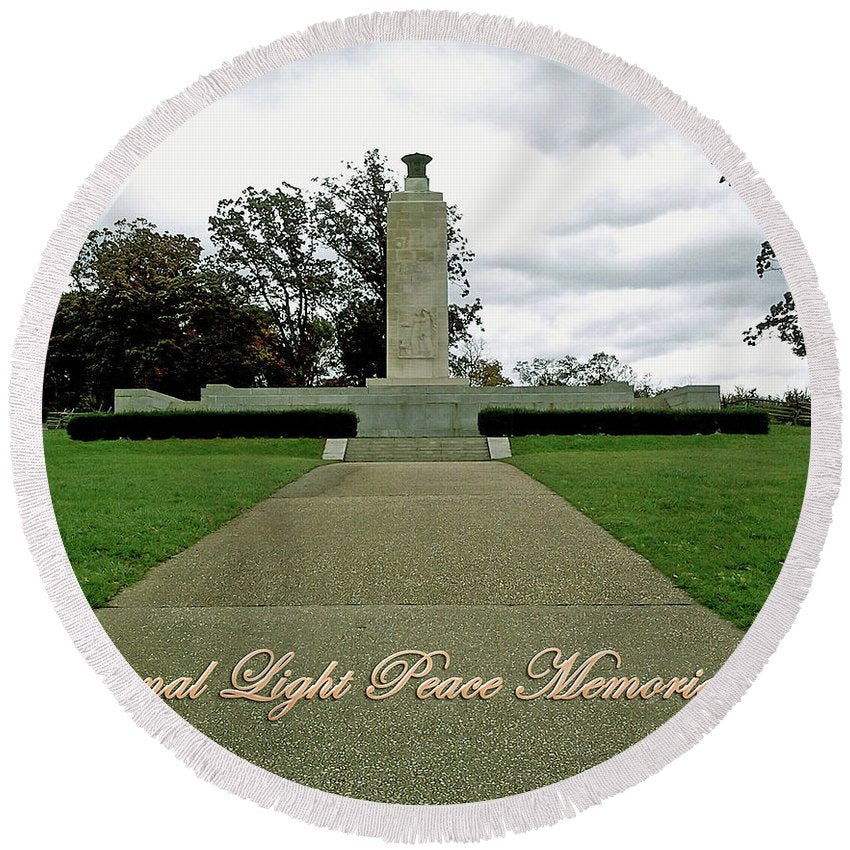 Eternal Light Peace Memorial 2 - Round Beach Towel