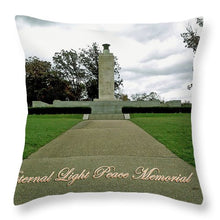 Eternal Light Peace Memorial 2 - Throw Pillow