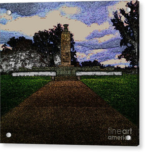 Eternal Light Peace Memorial In Draw Form - Acrylic Print