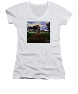 Eternal Light Peace Memorial In Draw Form - Women's V-Neck (Athletic Fit)