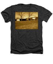 Old Red Barn In Sepia - Heathers T-Shirt