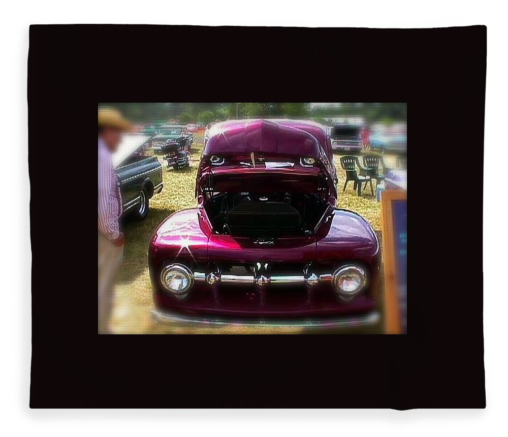 Purple Color Pickup Truck - Blanket