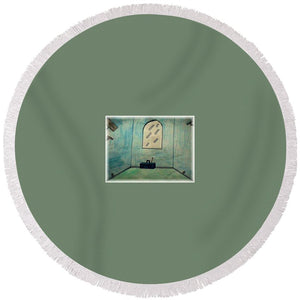 Dancing Studio - Round Beach Towel