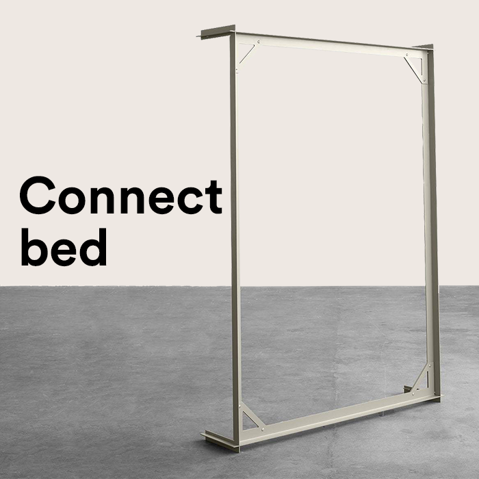 SALE - *NEW* Connect Bett 140 cm, metallgrau