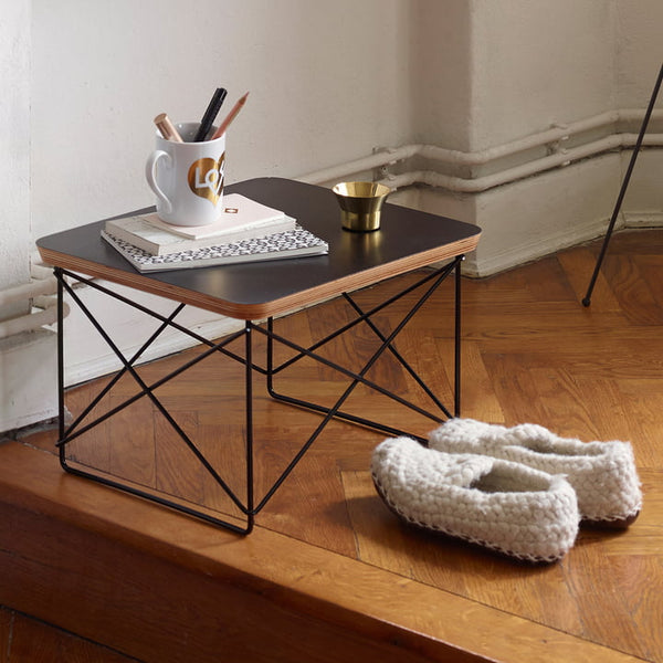 Eames Occasional Table LTR, HPL weiß / Chrom
