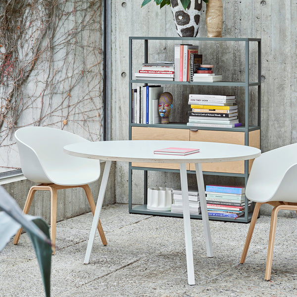 Loop Stand Round Table, Ø 105 cm, weiß / weiß