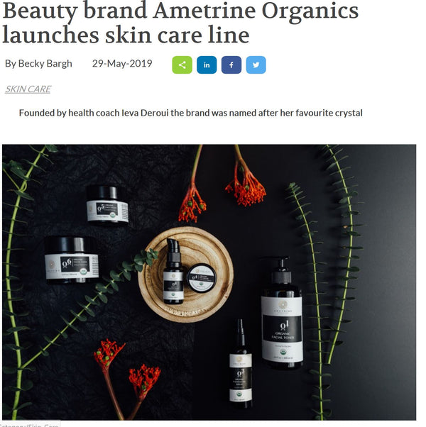 AMETRINE ORGANICS IN COSMETICS BUSINESS
