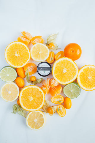 Natural Eye Cream Citrus Vitamin C Background