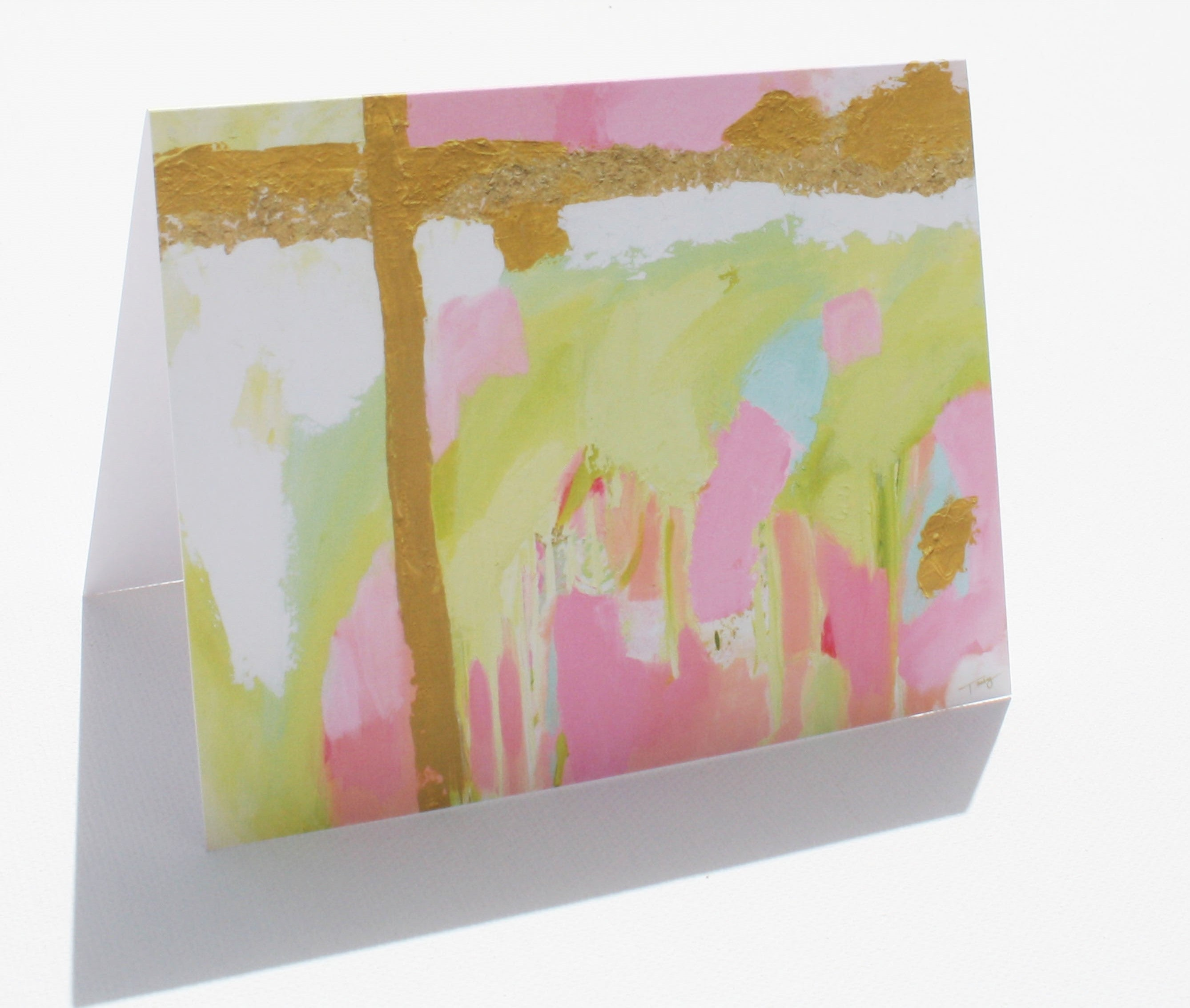 Abstract Cross Note Cards
