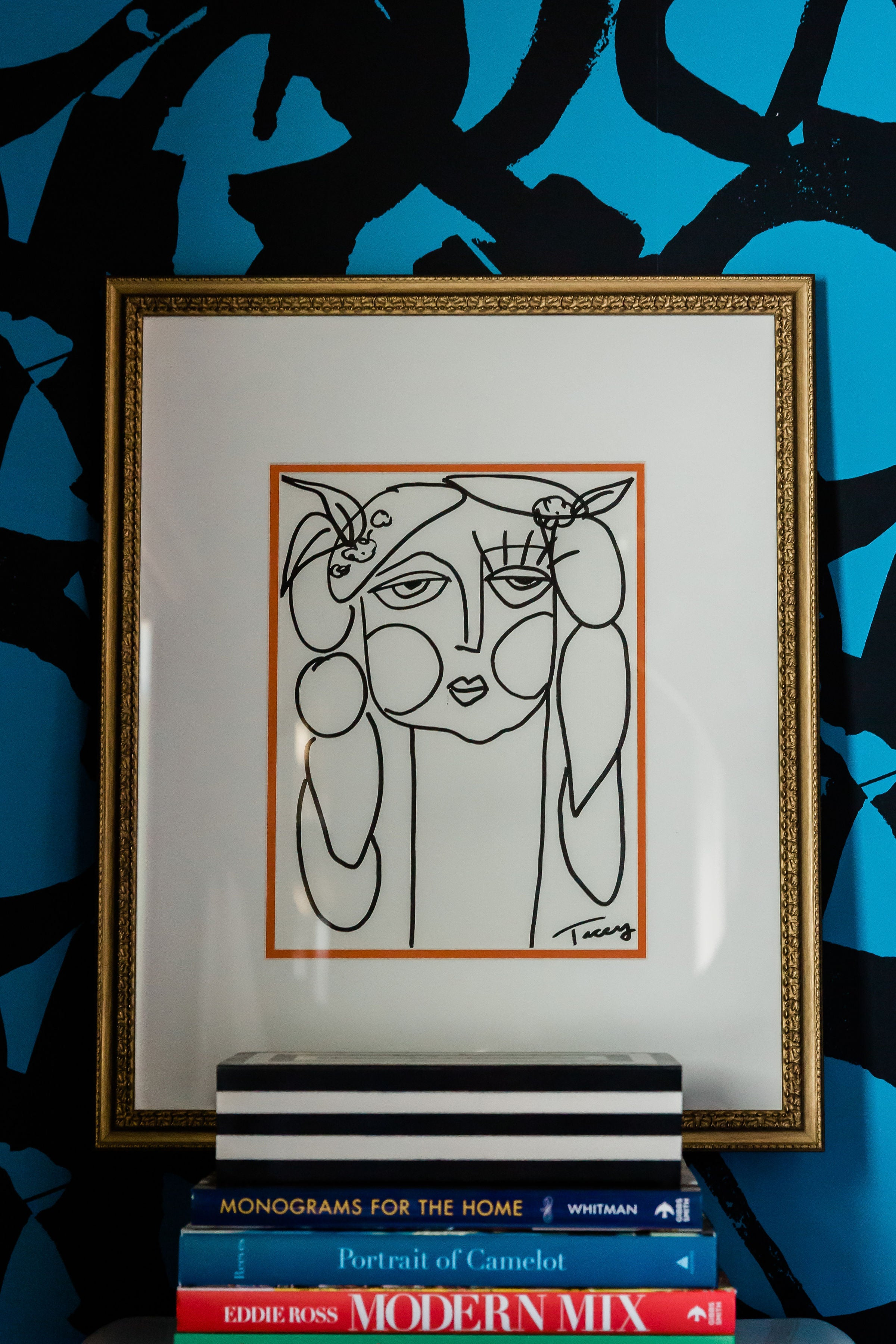 Picasso Girl on Paper