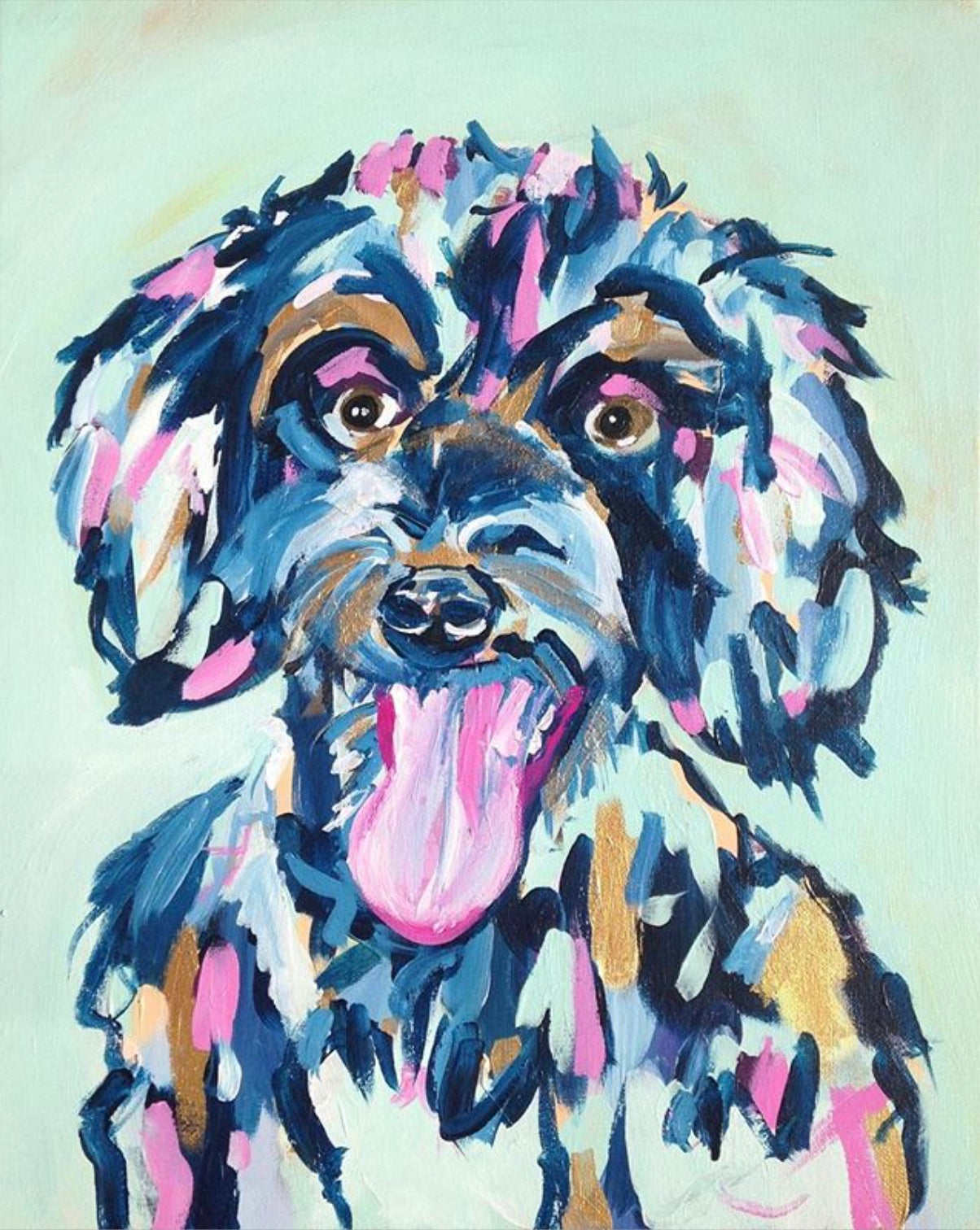 16x20 Dog Portrait Commission
