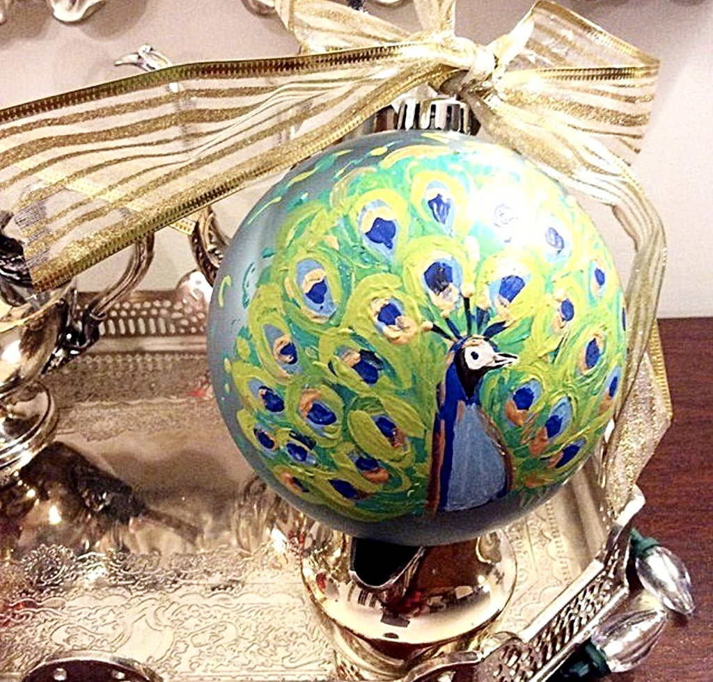 Seasonal Peacock Ornament