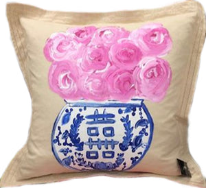 Tan Ginger Jar Pillow
