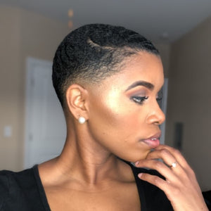 black female haircut, essence, line-up, hair butter, shea butter, 360 waves, hair waves, African american hair styles, pomade, barber, beard, beard balm, beard butter, bevans grooming, hair products, black barber, fade, black woman haircut, baldie