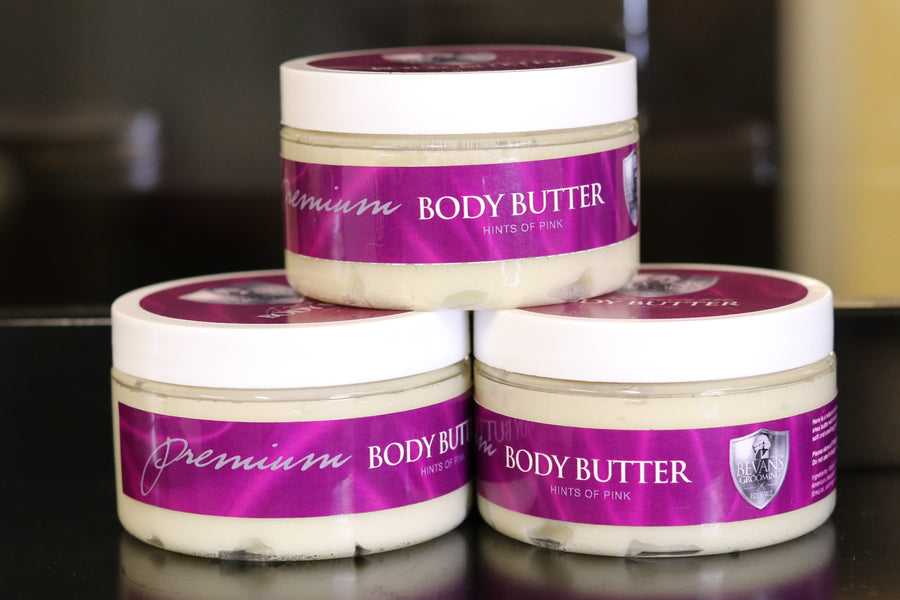 Premium Body Butter. Made with 100% Natural oils. Shea Butter, 4+ oils, and a beautiful sweet smelling fragrance that is oil based. Relieves dry skin, eczema, great for heels of feet and elbows. women love the scent. body butter lotion.