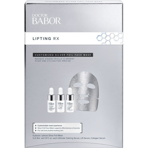 Babor Lifting RX Customized Silver Foil Face Mask