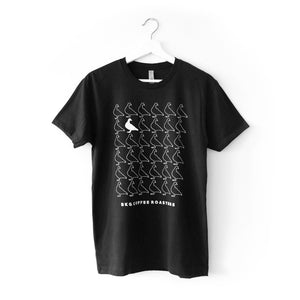 Pigeon Pattern Short Sleeve T-Shirt