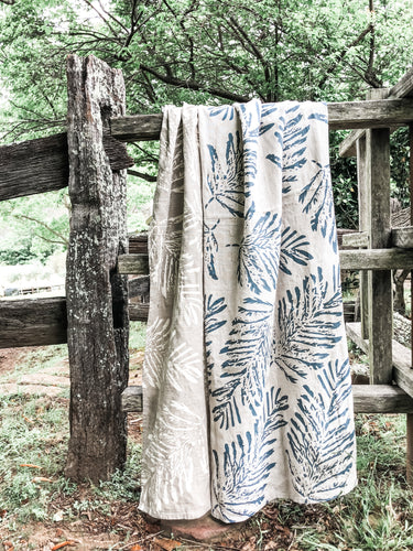 Fern linen tablecloth
