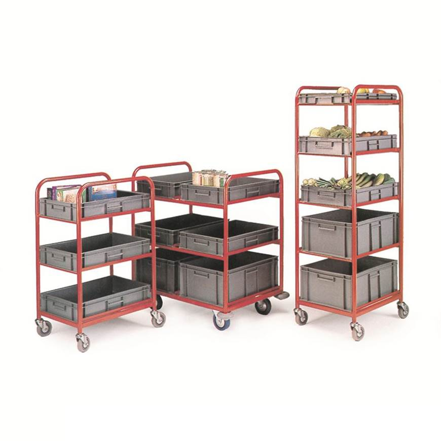 Container Trolley,  complete with 3 containers