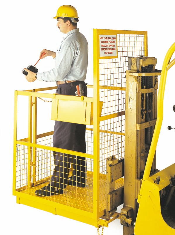 STANDARD FORK LIFT CAGE OPTIONAL TOOL BOX