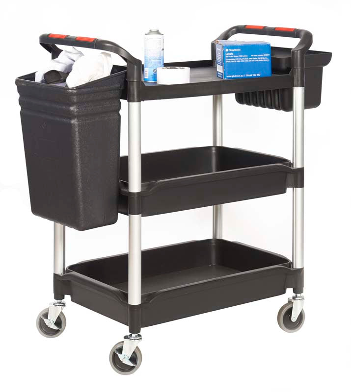 Proplaz Plus 3 Shelf Tub Trolley with Buckets
