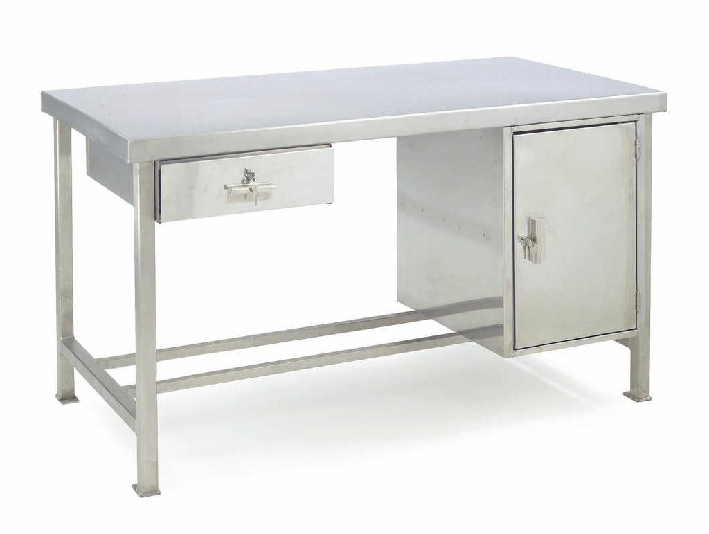 Stainless Steel Preparation Workbenches - Cupboard