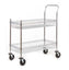 Chrome Plated Wire Tray Trolley - Corner Buffers