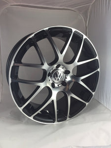 "Silver & Black DTM 20"" Alloy Wheels & Tyre Package"