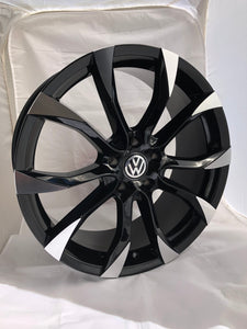 "Black & Polished Vulcan 20"" Alloy Wheels & Tyre Package"