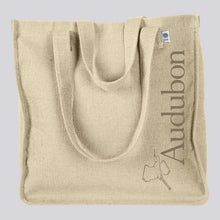 Load image into Gallery viewer, Classic Audubon Logo Hemp Market Tote Bag