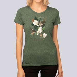 "Women's J.J. Audubon ""Black-Billed Cukoo"" T-Shirt"