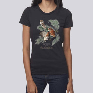 "Women's John James Audubon ""Little Screech Owl"" T-Shirt"