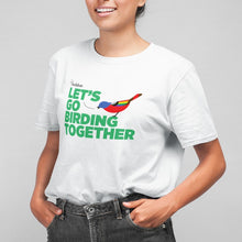 Load image into Gallery viewer, Unisex Let's Go Birding Together Pride T-Shirt