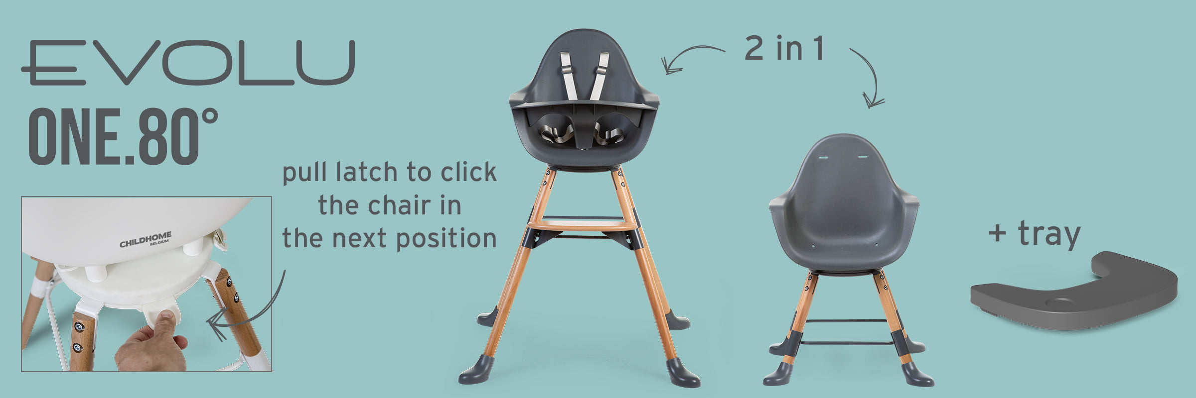 Evolu one.80° high chair