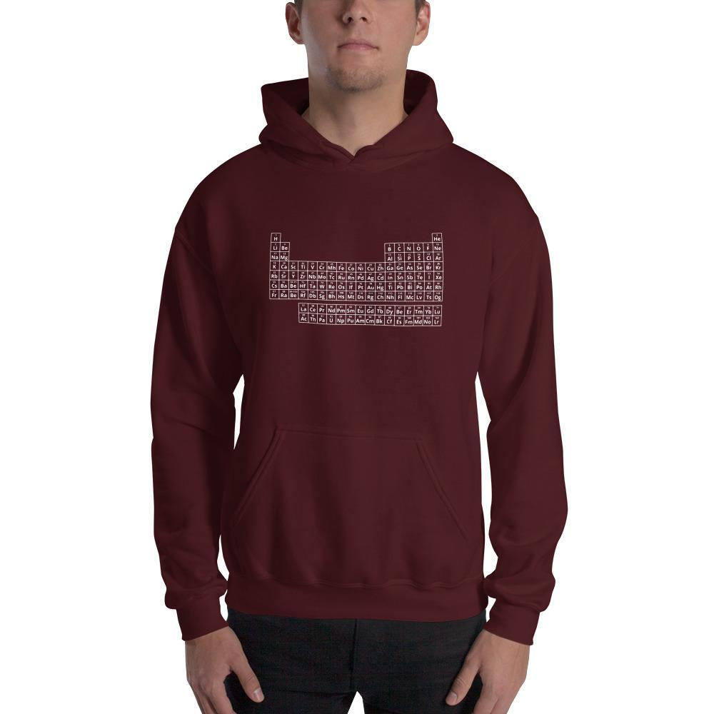 2019 Periodic Table of Elements Hoodie SciDye Maroon / S