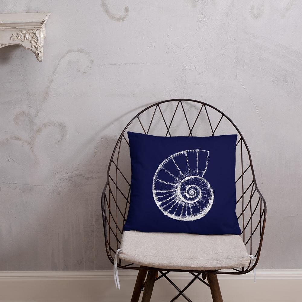Ammonite Fossil Illustration Pillow SciDye Default Title
