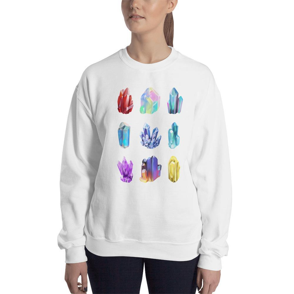 Crystal Collection Illustrations Sweatshirt SciDye White / S