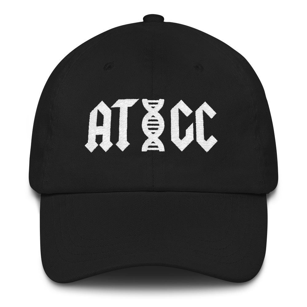 Embroidered ATGC DNA Biology Hat SciDye Black