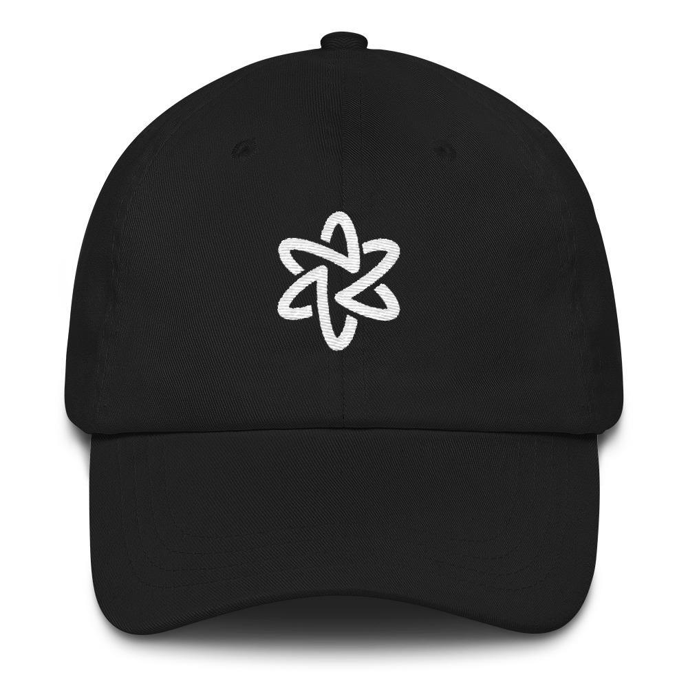 Embroidered Atom Symbol Hat SciDye Black