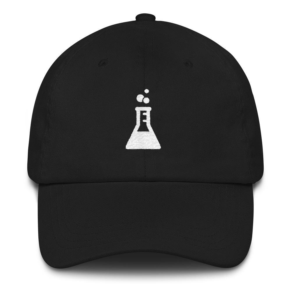 Embroidered Chemistry Flask Logo Hat SciDye Black