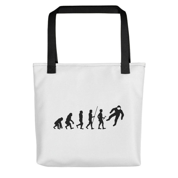 Human Evolution Astronaut Space Tote bag SciDye Black