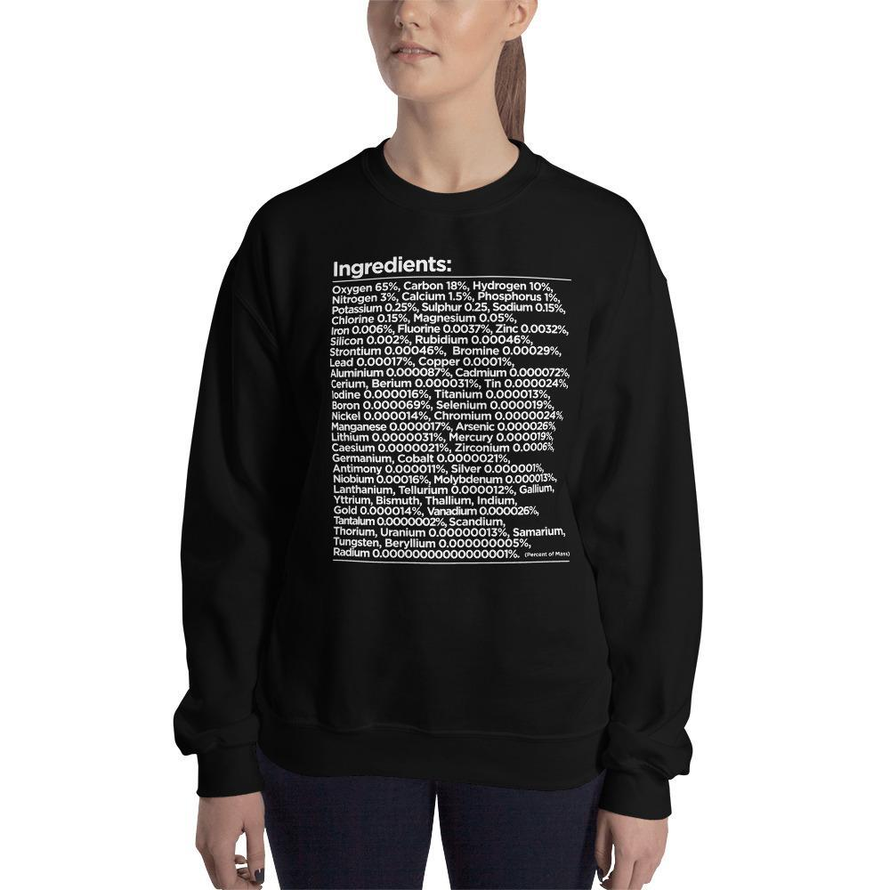 Human Ingredients Chemistry Sweatshirt SciDye Black / S