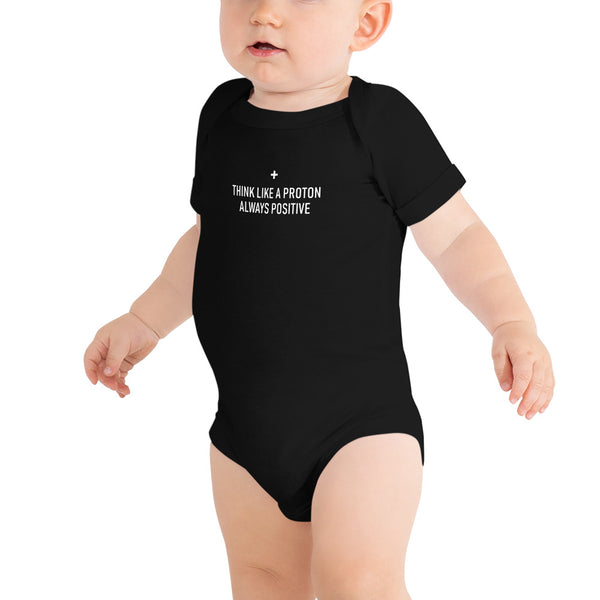Think Like a Proton Baby's Science Onesie
